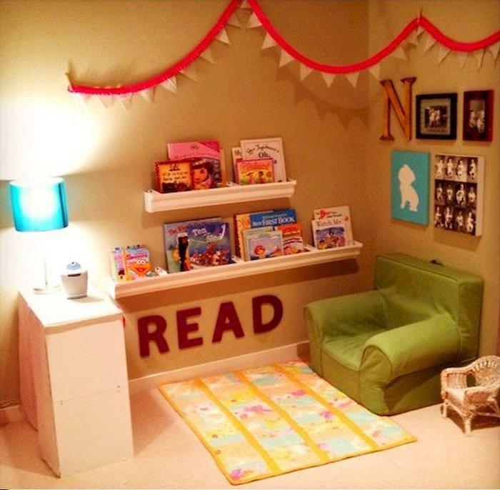 góc đọc sách, cách giúp trẻ thích đọc sách