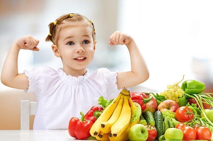 rau củ quả cho trẻ