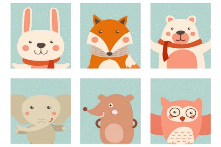 thẻ card hình thú giúp bé nhận biết các con vật nuôi trong nhà