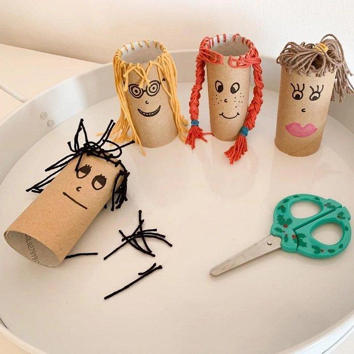 làm đồ chơi từ lõi giấy vệ sinh