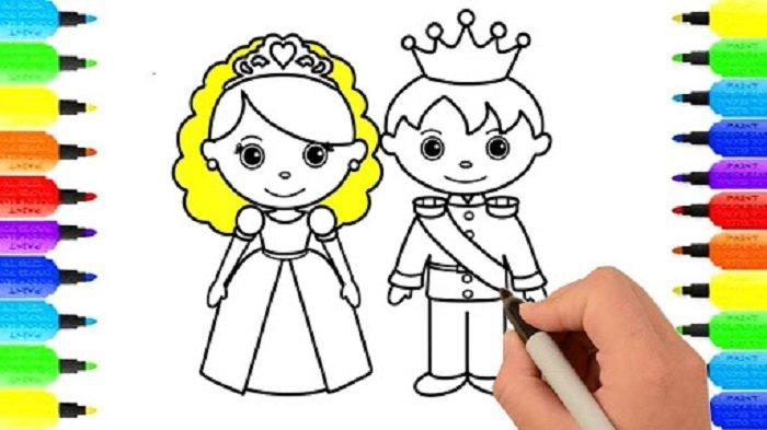 Tập vẽ công chúa hoàng tử