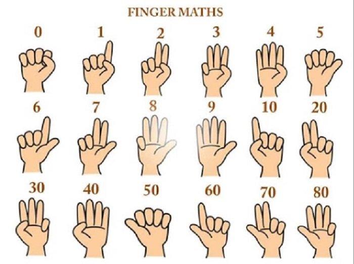 Quy tắc sử dụng bàn tay trong Finger Math.