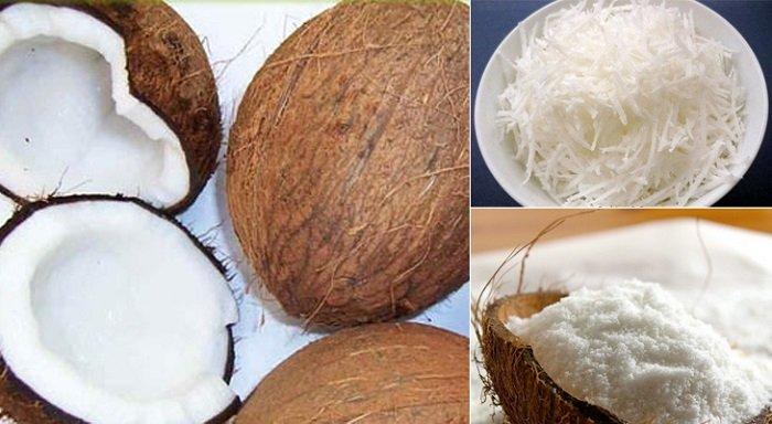 Ở cả hai cách làm dầu cho bé, bố mẹ đều cần nạo lấy hết phần cơm dừa.