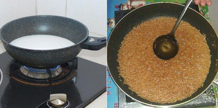 Cách làm dầu dừa cho bé bằng phương pháp làm nóng.