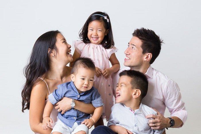 Gia đình hạnh phúc.