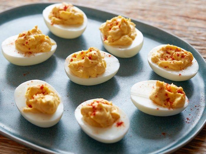 Món ăn chế biến từ trứng gà.