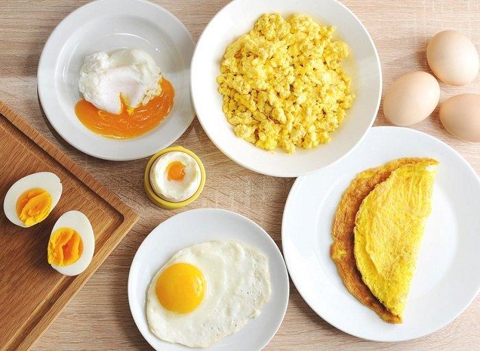 Các món chế biến từ trứng.