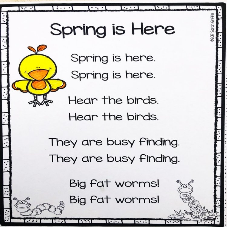 thơ tiếng Anh cho trẻ