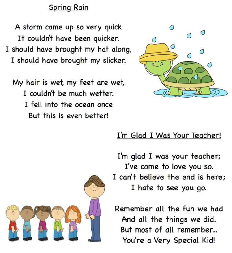 những bài thơ tiếng Anh cho trẻ mầm non