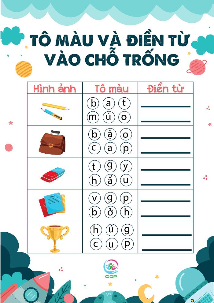 Dạy bé tiếng Việt trong giai đoạn này chỉ mang tính chất làm quen.