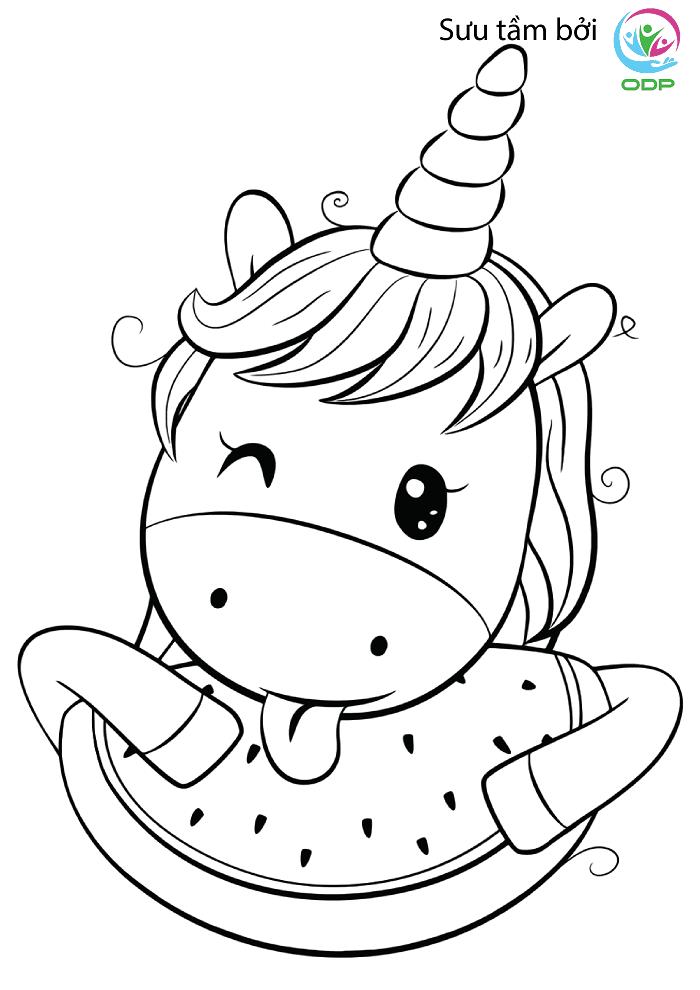Hình con vật cho bé tập tô màu 3