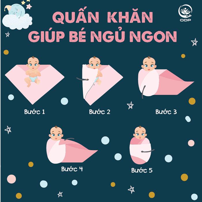 Cách quấn kén cho trẻ sơ sinh cực đơn giản.