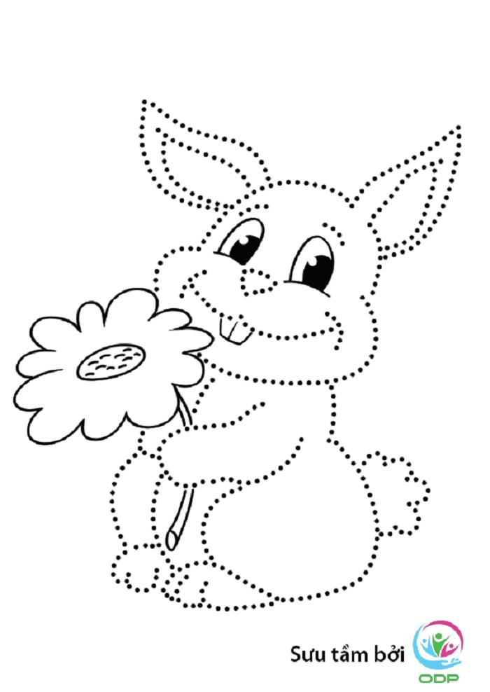 Dạy bé tập tô nét cơ bản hình con thỏ